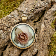 Pink Rose Large Necklace (RR08)