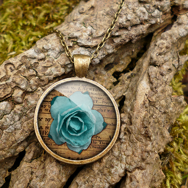 Blue Rose Large Necklace (RR02)