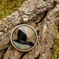 Raven In Flight Large Necklace (RR03)