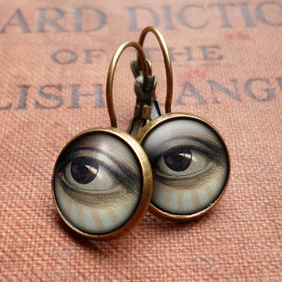 Vintage Eye Leverback Earrings (ER07)