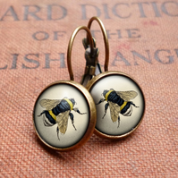 Vintage Bee Leverback Earrings (ER04)