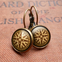 Compass No.1 Leverback Earrings (DJ03)