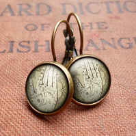Palmistry Leverback Earrings (DJ08)