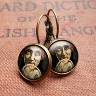Fortune Teller Leverback Earrings (DJ04)