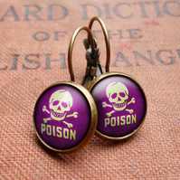Poison No.2 Leverback Earrings (DJ09)