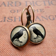 Raven No.1 Leverback Earrings (RR01)