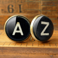 Personalised Initials Alphabet Typewriter Key Cufflinks