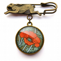 Poppy Hare Pin Brooch (AN07)