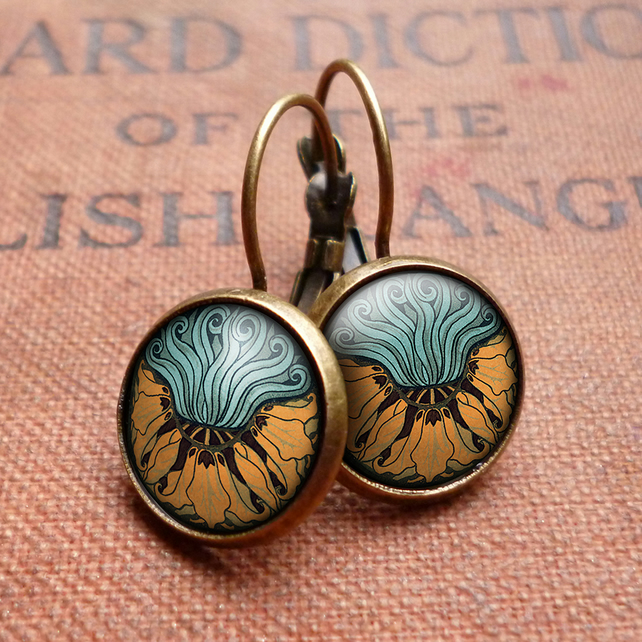Fritillaria Leverback Earrings (AN02)