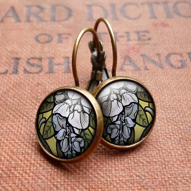 Wisteria Leverback Earrings (AN03)