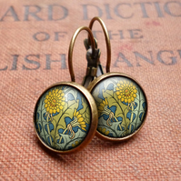 Dandelion Leverback Earrings (AN04)