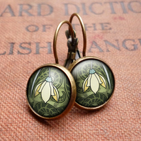Snowdrop Leverback Earrings (AN05)