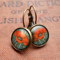 Poppy Leverback Earrings (AN07)