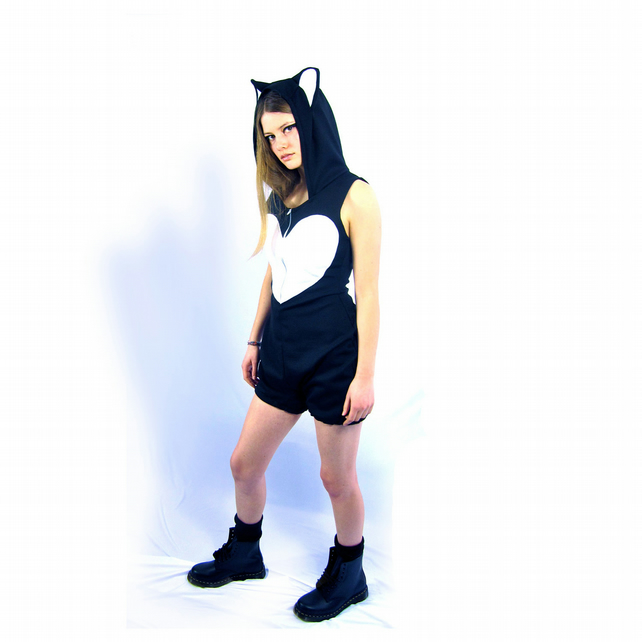 Little Mew - Black Cat Romper Playsuit