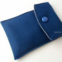 Blue wool Handmade Kindle cover