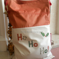 Large Calico Santa Sack   Sale item!