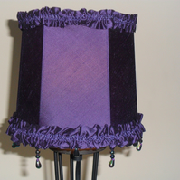 Purple silk Lampshade
