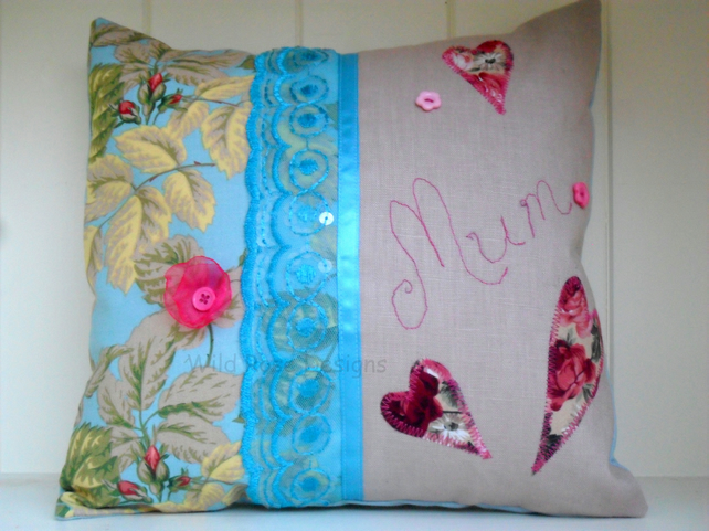 'Mum' cushion. Mother's Day gift. Mini cushion.