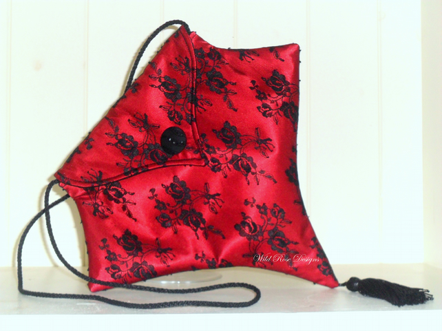 Red Gothic inspired Evening Bag  Sale item!
