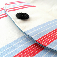 Blue, red and white striped iPad sleeve. 20% off!