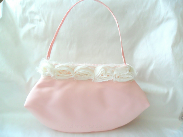 Pink satin Bridesmaids  Bag - now with 20% off!
