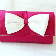 Wedding Bag in Cerise silk  - now with 20% off!