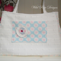 Large cream handbag