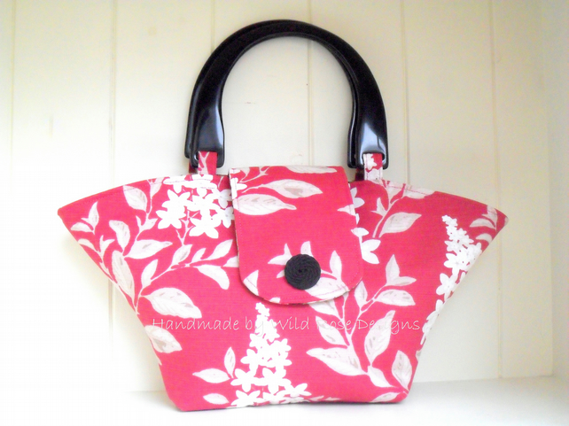 Raspberry print Summer handbag - Sale item!
