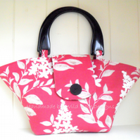 Raspberry print Summer handbag