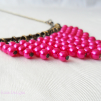 Pink Statement necklace - Sale item!