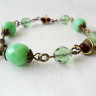 Green and ruby bracelet