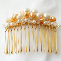 Gold Pearl Hair comb