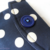 iPad mini case in Navy. iPad sleeve.