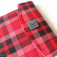 iPad mini case. Red check iPad mini sleeve. Kindle Fire sleeve.