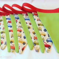 Bunting in red and green. Car bunting. Children's bunting.