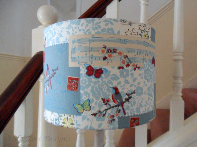 Birds and Butterflies lampshade