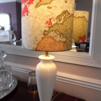 20 cm Lampshade in a 'Maps' design fabric