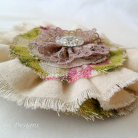 Floral fabric corsage