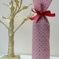 Fabric Christmas bottle gift bags