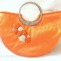 Tangerine silk Wedding bag