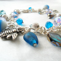 Blue charm bracelet - Sale item!