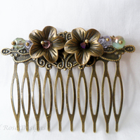 Bronze hair comb