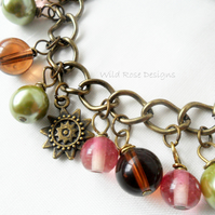 Antique bronze charm style bracelet