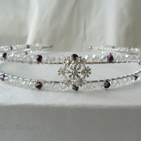 Crystal and diamante tiara, hair band