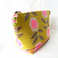 Green print make-up bag