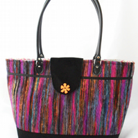 Multi-coloured tote bag