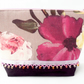 Pink and purple floral make-up bag. Cosmetics bag.