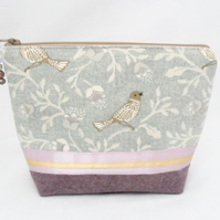 Bird print make up bag