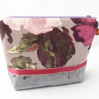 Pink and mauve makeup bag