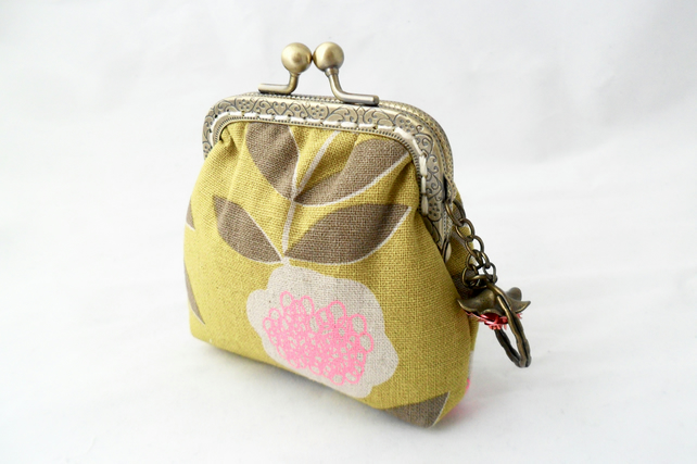 Small green coin purse